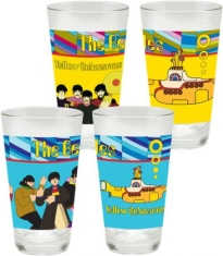 Beatles - Yellow Submarine 2 pc. 16 oz. Laser Decal Glass Set