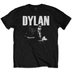 Bob Dylan - Bob Dylan Men's Tee: At Piano