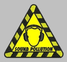 "Sound Pollution - Patch ""Logo"""