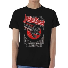 Judas Priest - Judas Priest Unisex Tee: Silver and Red Vengeance