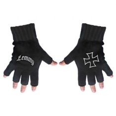Lemmy - Fingerless Gloves: Logo & Iron Cross