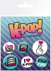 K-POP - Quotes (5 Badges)