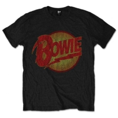 David Bowie - T-shirt - Vintage Diamond Dogs Logo (Men Black)