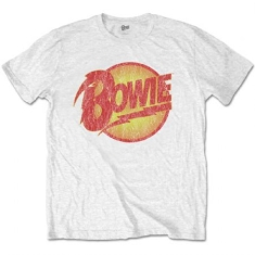 David Bowie - T-shirt - Vintage Diamond Dogs Logo (Men White)