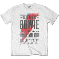 David Bowie - T-shirt - Hammersmith Odeon (Men White)