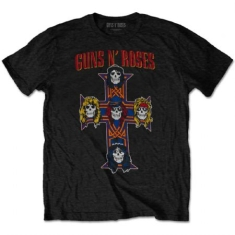 Guns N' Roses - T-shirt - Vintage Cross (Men Black)