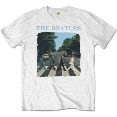 The beatles - The Beatles Unisex Tee: Abbey Road & Logo (Retail Pack)