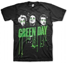 Green Day - Drips Mens Black T Shirt