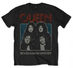 Queen - Bo Rhap Black Mens T Shirt