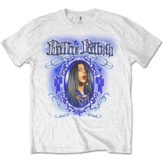 Billie Eilish - Unisex Tee White - Airbrush