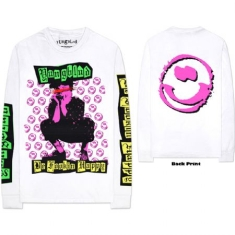 Yungblud - Long Sleeved Tee White -  Punker (Arm & Back Print)