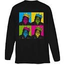 Biggie Smalls - UNISEX LONG SLEEVED TEE: MULTICOLOUR PANELS