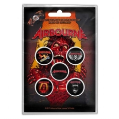 Airbourne - BUTTON BADGE PACK: BREAKIN' OUTTA HELL (RETAIL PACK)