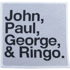 The beatles - STANDARD PATCH: JOHN, PAUL, GEORGE, RINGO BLACK ON WHITE