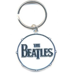 The beatles - KEYCHAIN: DRUM LOGO (ENAMEL IN-FILL)