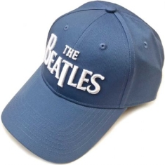 Beatles - The Beatles unisex cap . white drop t logo (demin blue)