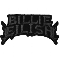 Billie Eilish - Billie Eilish Standard Patch : Flame Black