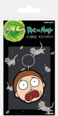 Rick and Morty - Rick and Morty (Morty Terrified Face) Rubber Keychain