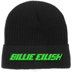 Billie Eilish - Billie Eilish Unisex Beanie Hat : Racer Logo