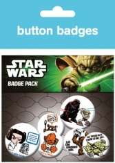STAR WARS - Characters button badges 6 st