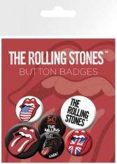 Rolling Stones - Lips Button Badges Lip 6 st