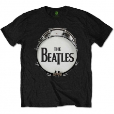 The Beatles Original Drum Skin Mens Black TS - T-shirt