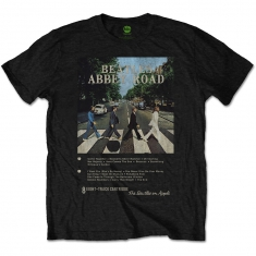 The Beatles Abbey Road 8 Track Mens Black Tshirt - T-shirt S