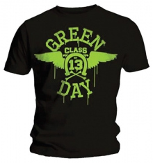 Green Day Neon Black Mens Black T Shirt