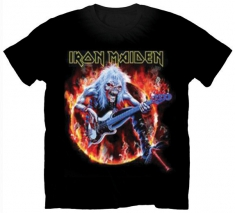 Iron Maiden Fear Live Flames Mens T Shirt