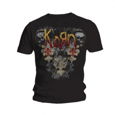 Korn Skulldelis Mens Black T Shirt
