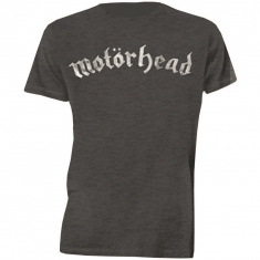 Motorhead Distressed Logo Mens Charcoal TS