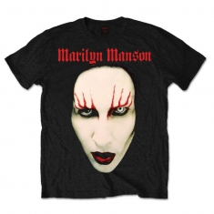 Marilyn Manson Red Lips Mens Black TS
