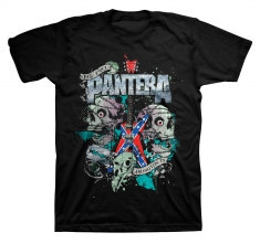 Pantera Texas Skull Mens Black T Shirt