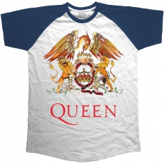 Queen Classic Crest Short Sleeve Raglan Navy