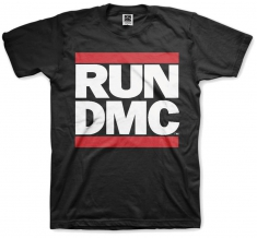 Run DMC Logo Black Mens T Shirt