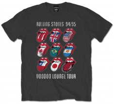 Rolling Stones VDoo Lounge Tongues Grey Mens TS