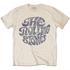 Rolling Stones Vintage 70's Logo Mens Sand TS