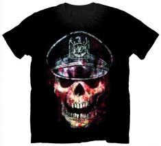 Slayer Skull Hat Mens T Shirt