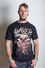 Slayer Skull Clench Mens T Shirt